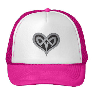Knotted Heart Design Cap