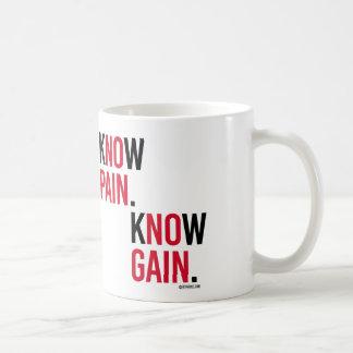 Know Pain Know Gain Basic White Mug