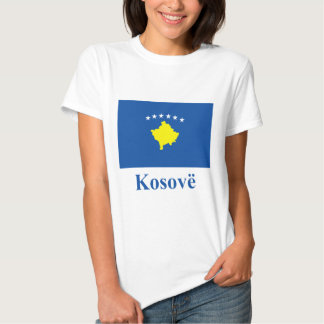 Kosovo Flag with Name in Albanian T Shirts