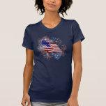 KRW American Flag Fireworks Patriotic Tshirt