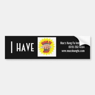 kung fu grip bumper sticker