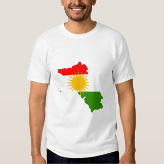 Kurdistan flag map shirts