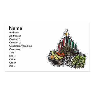 Kwanzaa Food Pack Of Standard Business Cards