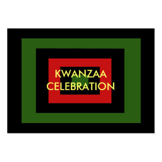 Kwanzaa Gift Tag Pack Of Chubby Business Cards