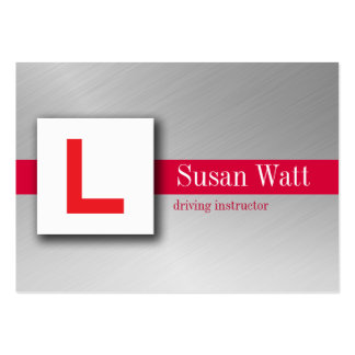 L Plate Driving Instructor Business Card
