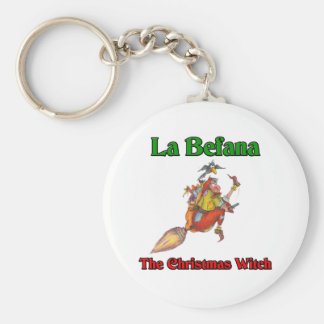 La Befana The Christmas Witch.. Basic Round Button Key Ring