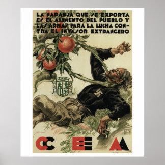 La naranja que se exporta es_Propaganda Poster