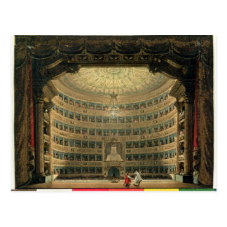 La Scala, Milan, during a performance Postcard