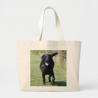 Labrador Retriever black dog beautiful photo, gift Jumbo Tote Bag