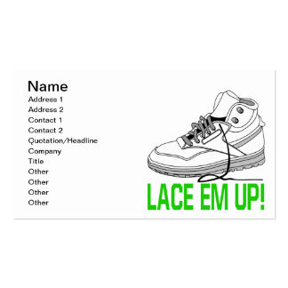 Lace Em Up Pack Of Standard Business Cards