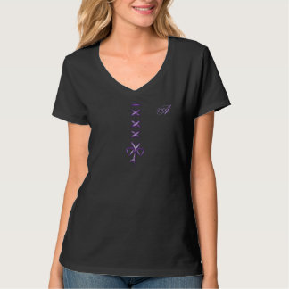 Lace Up Hanes Nano V-Neck T-Shirt