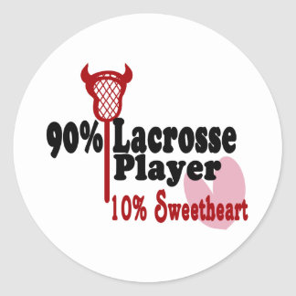 Lacrosse Sweetheart Round Sticker