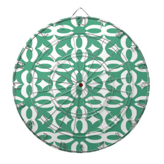 Lacy Seafoam Green Victorian Print Dartboard With Darts