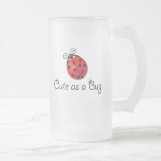 Lady Bug - Cute as a Bug Frosted Glass Mug