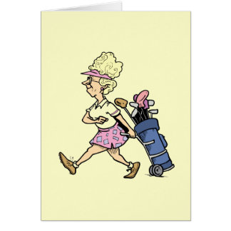 Lady Golfer Tshirts and Gifts Greeting Card