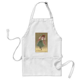 Lady with Mistletoe Dress Vintage Christmas Standard Apron