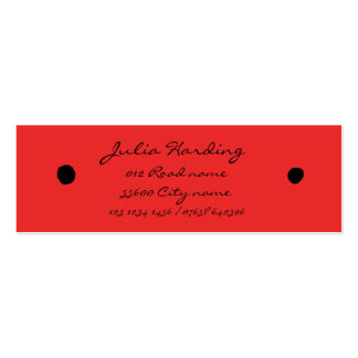 Ladybird black dots pack of skinny business cards