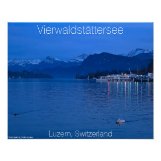 Lake at Twilight Poster