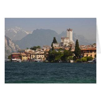 Lakeside town, Malcesine, Verona Province, Italy Greeting Card