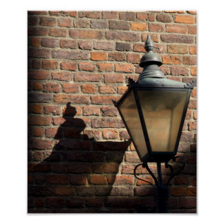 Lamp Casting Shadow Poster