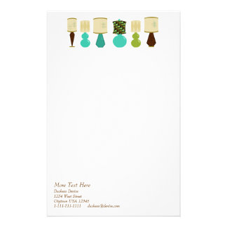 Lamp Line-Up Personalised Stationery