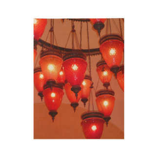 Lamps Wood Poster