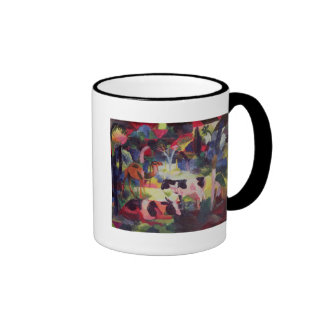 Landscape with Cows and a Camel Ringer Mug