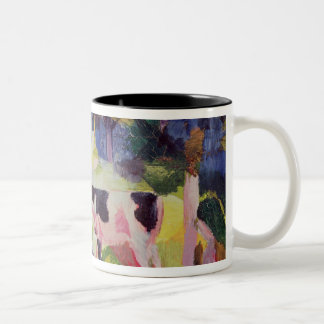 Landscape with Cows and a Camel Two-Tone Mug