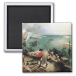 Landscape with the Fall of Icarus - 1558 Square Magnet