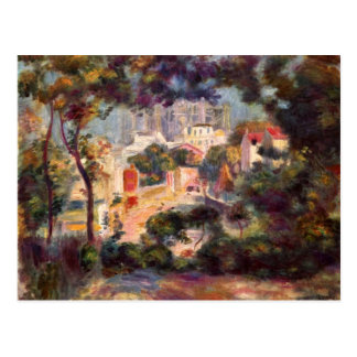 Landscape with the view of Sacre Coeur by Renoir Postcard