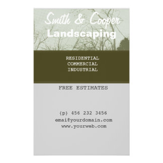 Landscaping Lawn Yard Gardening Care Personalized 14 Cm X 21.5 Cm Flyer