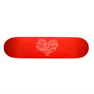 Languages of Love Heart Skate Board Decks