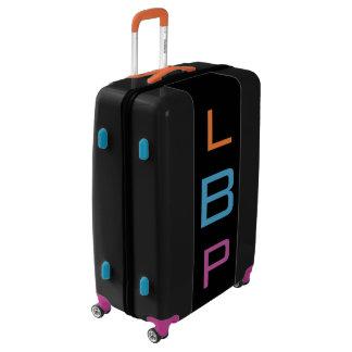 LARGE Black+Orange+Blue+Purple Monogram Luggage