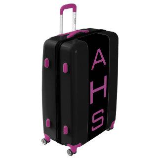 LARGE Black+Purple Personalized Monogram Luggage