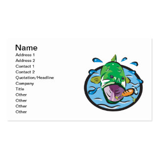 Large Mouth Bass 2 Pack Of Standard Business Cards