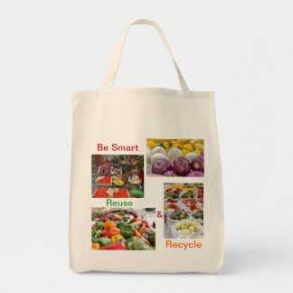 Large reusable canvas grocery / shopping bag
