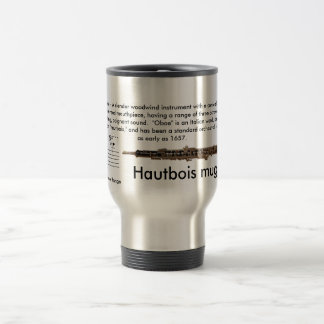 Large sized (15 oz.) Travel Oboe mug with lid