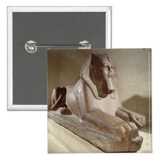 Large Sphinx, from Tanis (granite) 15 Cm Square Badge