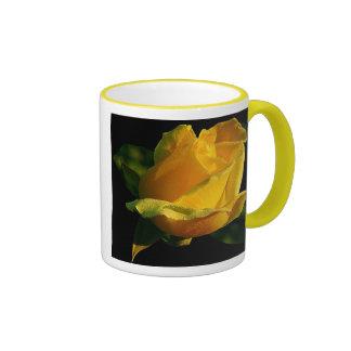 Large Yellow Rose Ringer Mug