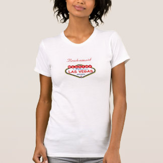 Las Vegas Bridesmaid Ladies Camisole Tshirt