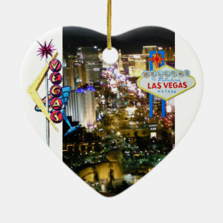 Las Vegas Sign Wedding Souvenir Ceramic Heart Decoration