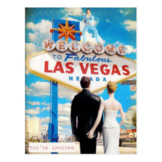 Las Vegas Wedding Invitation Postcard