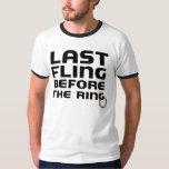 Last Fling Before the Ring Bachelor Party  Ringer T-shirt