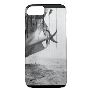 Last minute escape from vessel torpedoed_War Image iPhone 7 Case