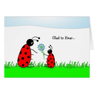 Last Round of Chemo Congratulations Card-Lady Bugs Greeting Card
