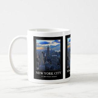 Late afternoon NYC Skyline as sunset approaches 1C Basic White Mug