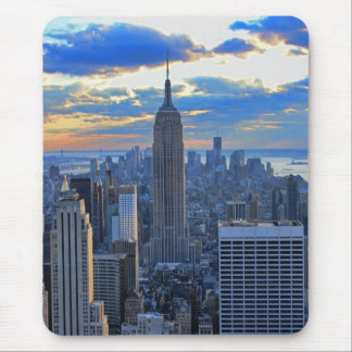 Late afternoon NYC Skyline as sunset approaches Mouse Pad