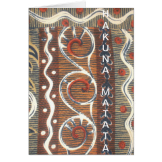 Latest vintage African tribes Customize Product Greeting Card