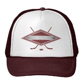 Latvian Hockey Flag Logo Cap