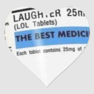 Laughter is the Best Medicine Heart Sticker